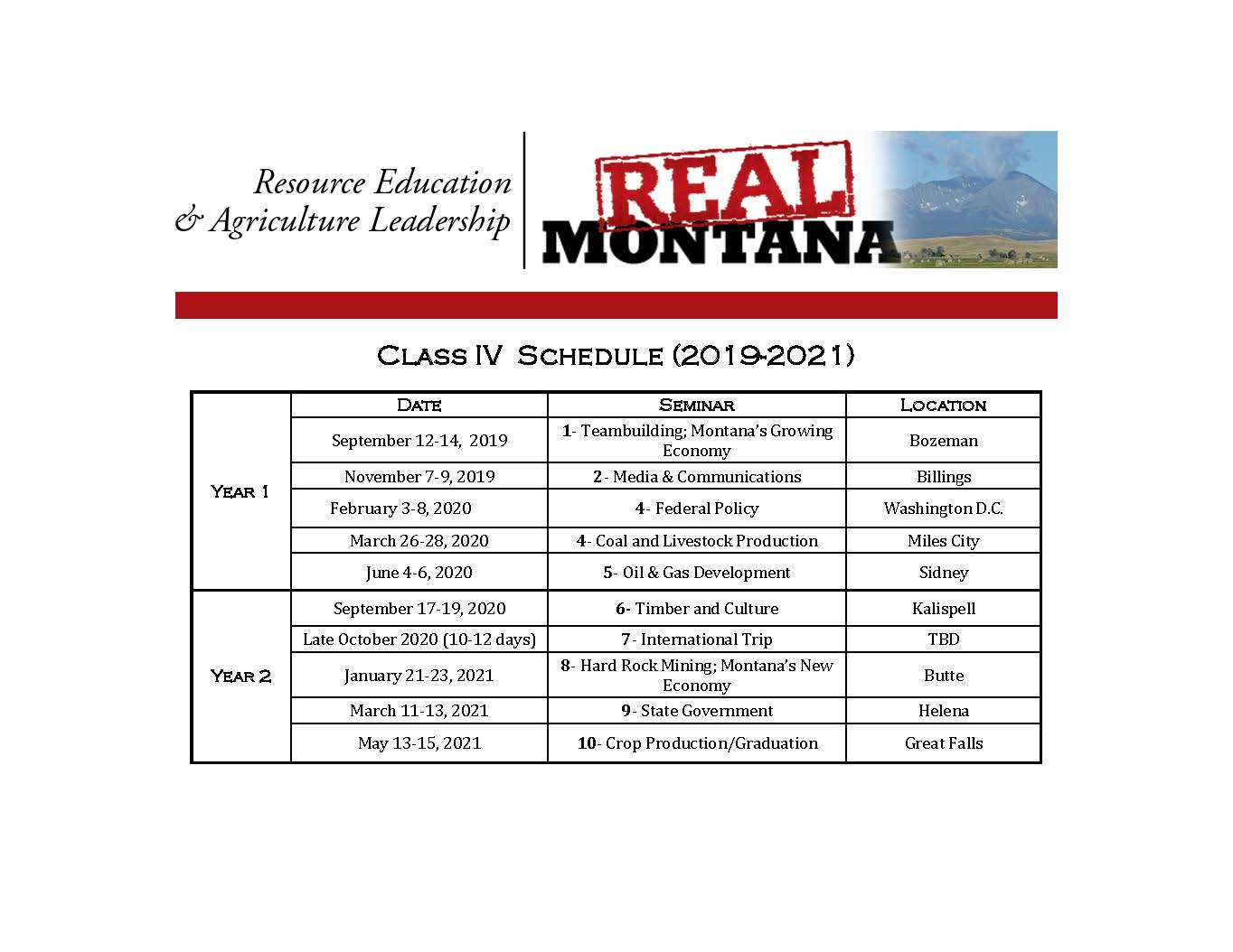 REAL Montana Schedule - MSU Extension - REAL Montana